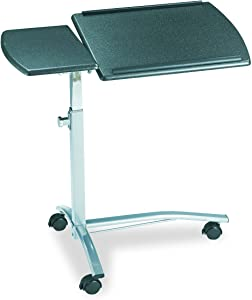 Mayline SOHO Mobile Laptop Caddy with Dual Worksurface, Height Adjustable, Anthracite Tf/Metallic Gray Frame