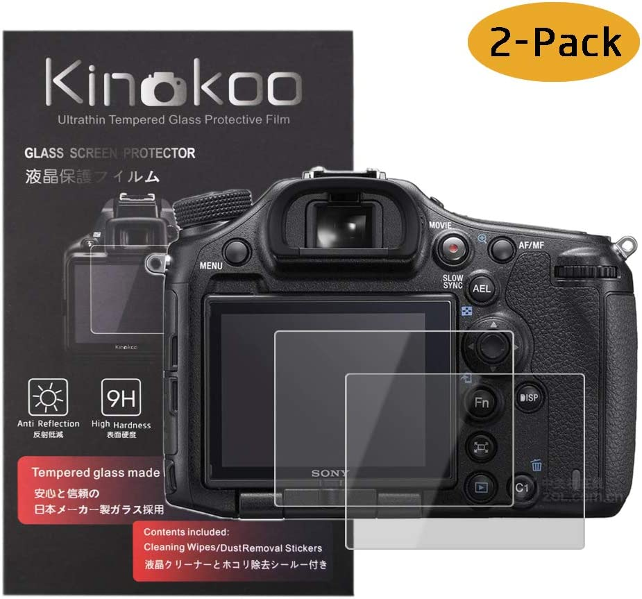 kinokoo Tempered Glass Film for SONY DSC-RX1//RX1R//RX1RM2 Crystal Clear Film Sony RX1 RX1R//Sony RX1R II Screen Protector Bubble-free//Anti-scratch 2 pack
