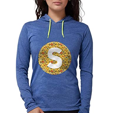 08d6354eec Amazon.com  CafePress Emoji Circle Letter S Womens Hooded Shirt ...