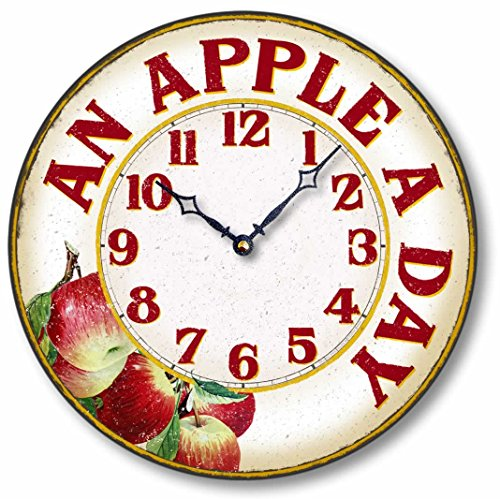 Item C8904 Vintage Style 12 Inch Apple Casual Kitchen Clock