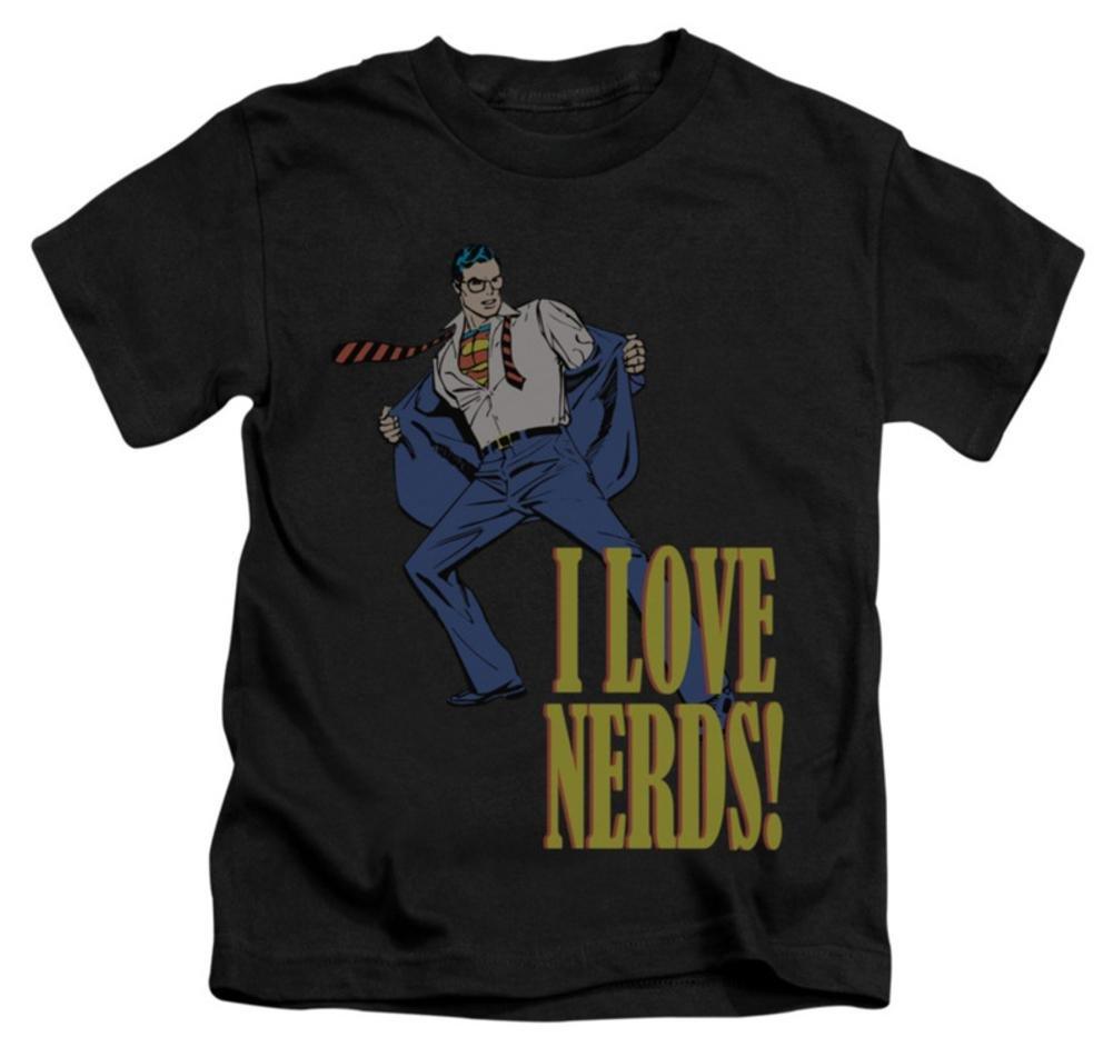 Juvenile: Superman - I Love Nerds Kids T-Shirt Size 7 by DC (Image #1)