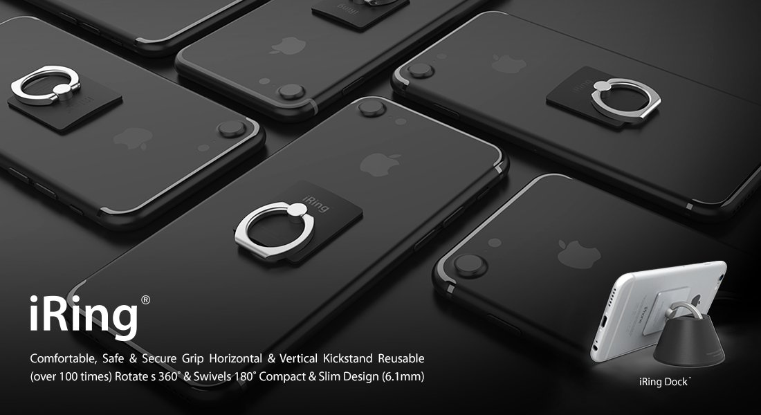 Safe Grip /& Kickstand for Smartphones /& Tablets Multipurpose Car Cradle Vanilla Mint IP-0BK0-1EN AAUXX iRing Dock Prestige Set