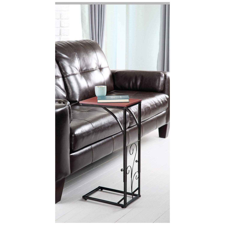 Amazon.com: Etna - Mesa auxiliar para sofá, altura ajustable ...