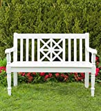 Legacy Diamond Eucalyptus Outdoor Bench - White