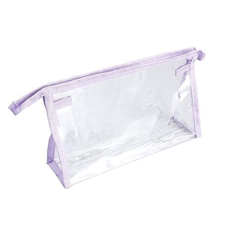 ddd9ef213 OUNONA Neceser de viaje transparente, impermeable, bolsas de maquillaje de  plástico PVC, bolsa
