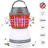 Lámpara Camping Antimosquitos Linterna Bawoo Lámpara de Asesino del Mosquito al Aire Libre Impermeable IP67 Tulipa de Lámpara Extraíble USB 2200mAh Recargable Impermeable para Camping