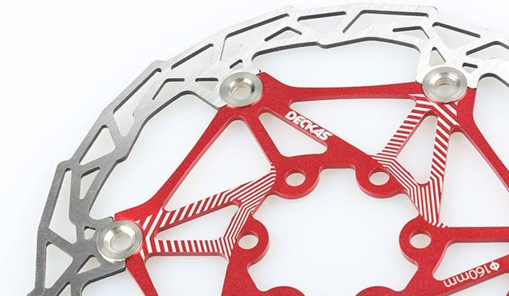 160 mm giratorio; disco con pernos para ciclismo de monta/ña con pernos Freno de disco flotante de acero inoxidable para bicicleta