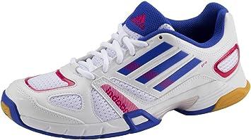 Adidas Damen Hallenschuh Sportschuhe speedcourt Pro Women WeissBlau G62511