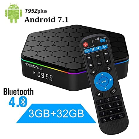 Android 7 1 TV Box, WeChip T95Z Plus 3GB RAM 32GB ROM Amlogic S912 Support  Octa Core 2 4G&5G Dual Band WiFi 4K Ultra HD Bluetooth 4 0 (T95Z Plus