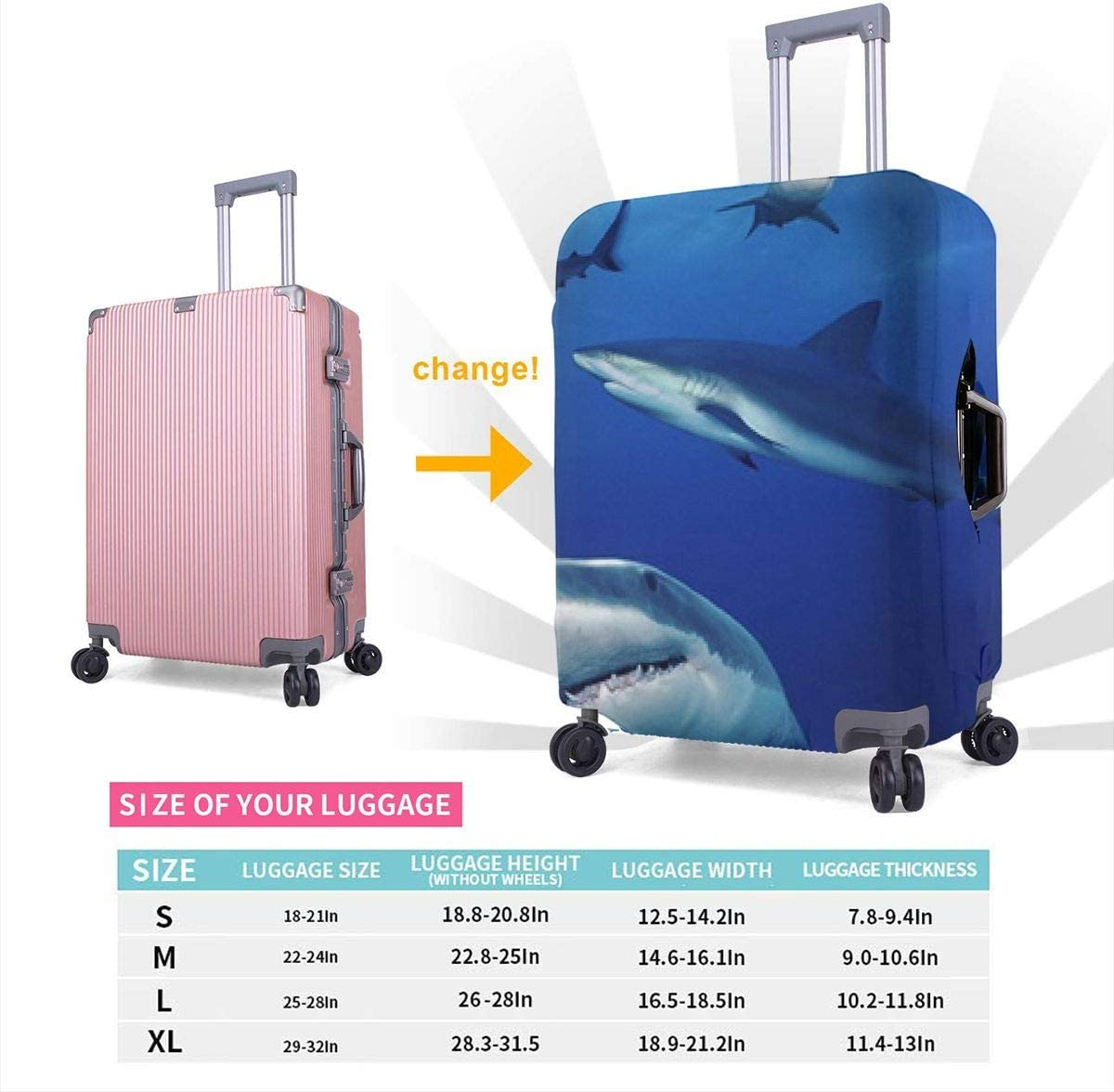 Burbank Los Angeles Swim Team XL Fashion Luggage Covers Suitcase Protector Jacket Dust-proof Anti-thief Case S M L XL for 18-32 inch Luggage