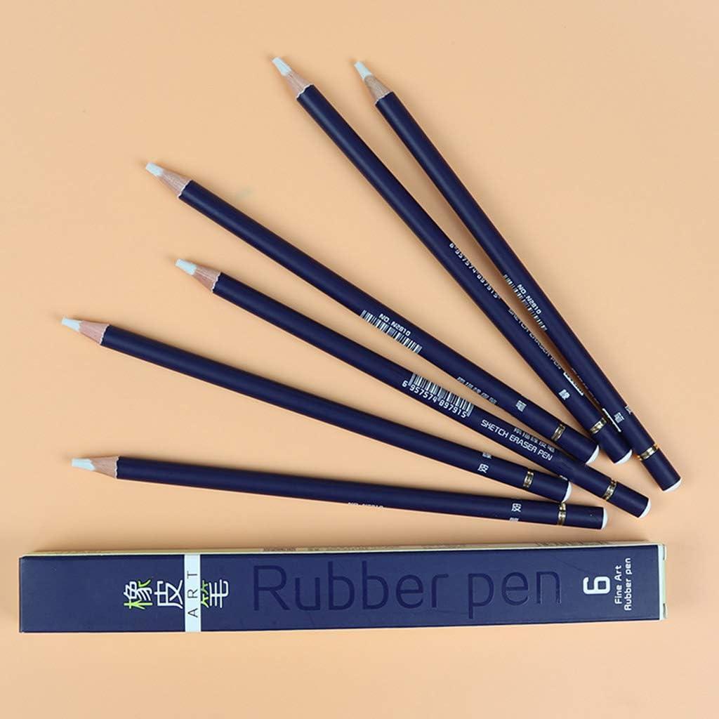 6pcs Evidenziare gomma design gomma da matita ad alta precisione della penna di illustrazione Modeling