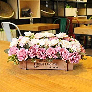 XIN HOME Simulierte künstliche Blume European American Zaun ...