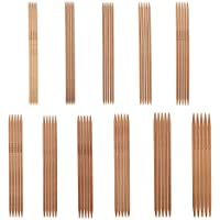 55Pcs Bamboo Knitting Needles Set Agujas de tejer