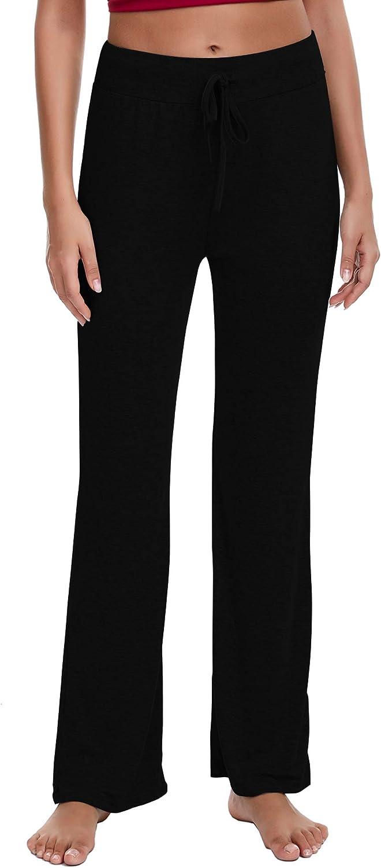 Irevial Womens Bootcut Yoga Pants Cotton High Waist Tummy Control Bootleg Workout Flare Pants
