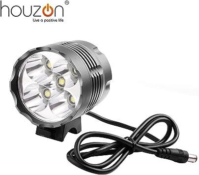 HOUZON® Foco Recargable Para Bicicleta y Cabeza CREE XML T6 5 LED ...