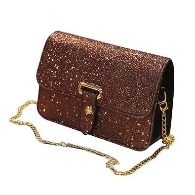 Women Sequins Crossbody PU Leather Shoulder Bag Purse Handbag Messenger Satchel