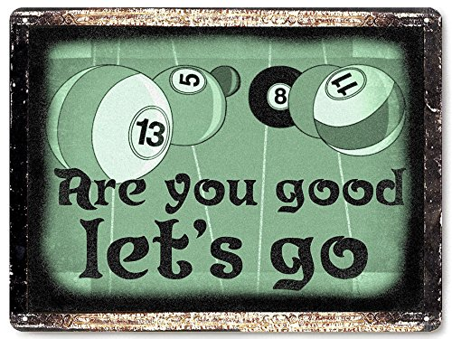 Billards metal sign Pool table shark funny / bar tavern pool room vintage style wall decor ()