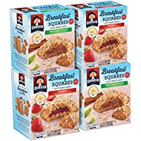 4-Pack Quaker Breakfast Squares Variety Pack, Apple Cinnamon & Strawberry (5-Count Each)