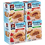 Quaker Breakfast Squares, Variety Pack, Apple Cinnamon & Strawberry, 5 Count (Pack of 4)