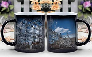 Amymami Personalized Gifts Heat Changing Magic Coffee Mug - Lake Mead Power Plant Reservoir Hoover Dam Nevada