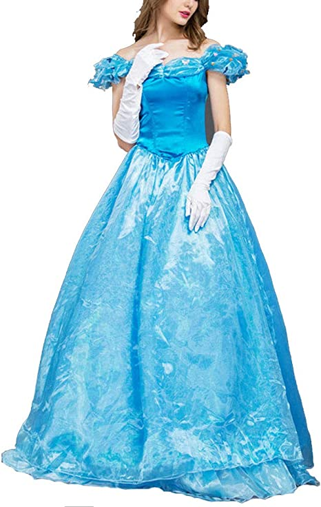 PAOFU-Vestido de Princesa Color Sólido Hombro Caído Disfraces de ...