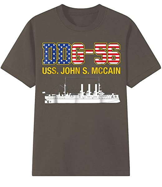 Ddg-56 Uss John S. Mccain T-shirt Short Sleeve Tee Pullover Casual Shirts