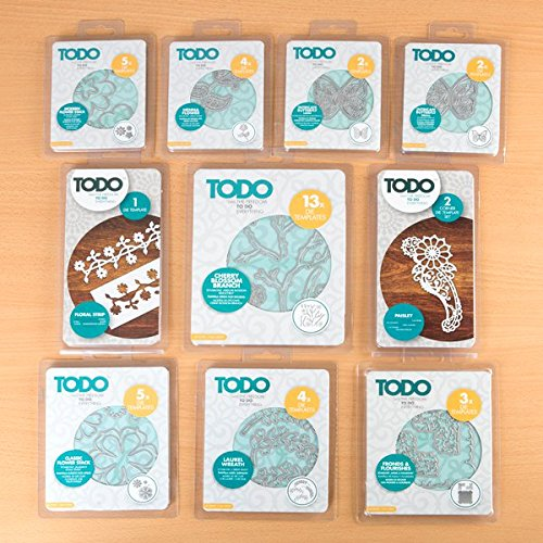 TODO Metal Paper Card Craft Cutting Die Template Set - Garden Collection by Todo