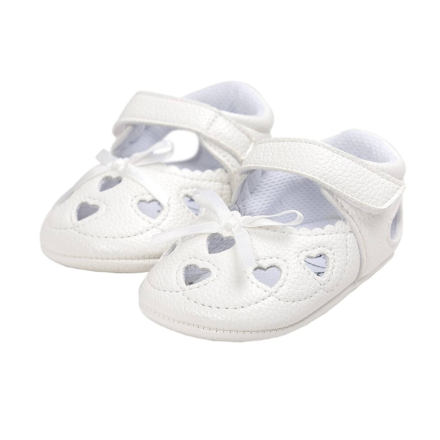 LINKEY Baby Girls Hollow Heart Mary Jane Princess Dress Shoes With