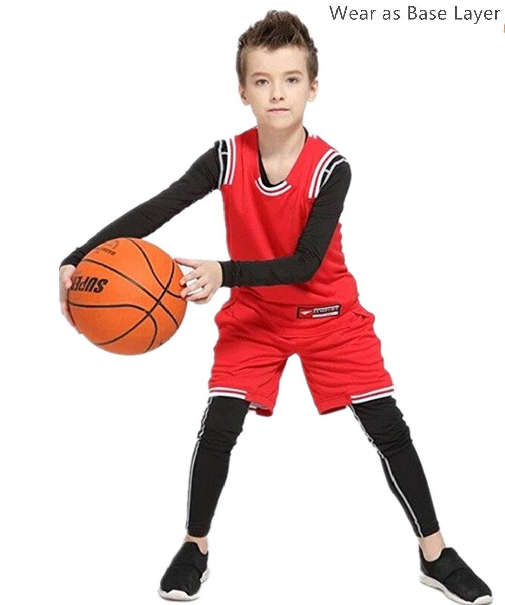 CHANGTAI CT Boys Football Compression Underwear Set 2pcs Thermal Long John for Kids CT037