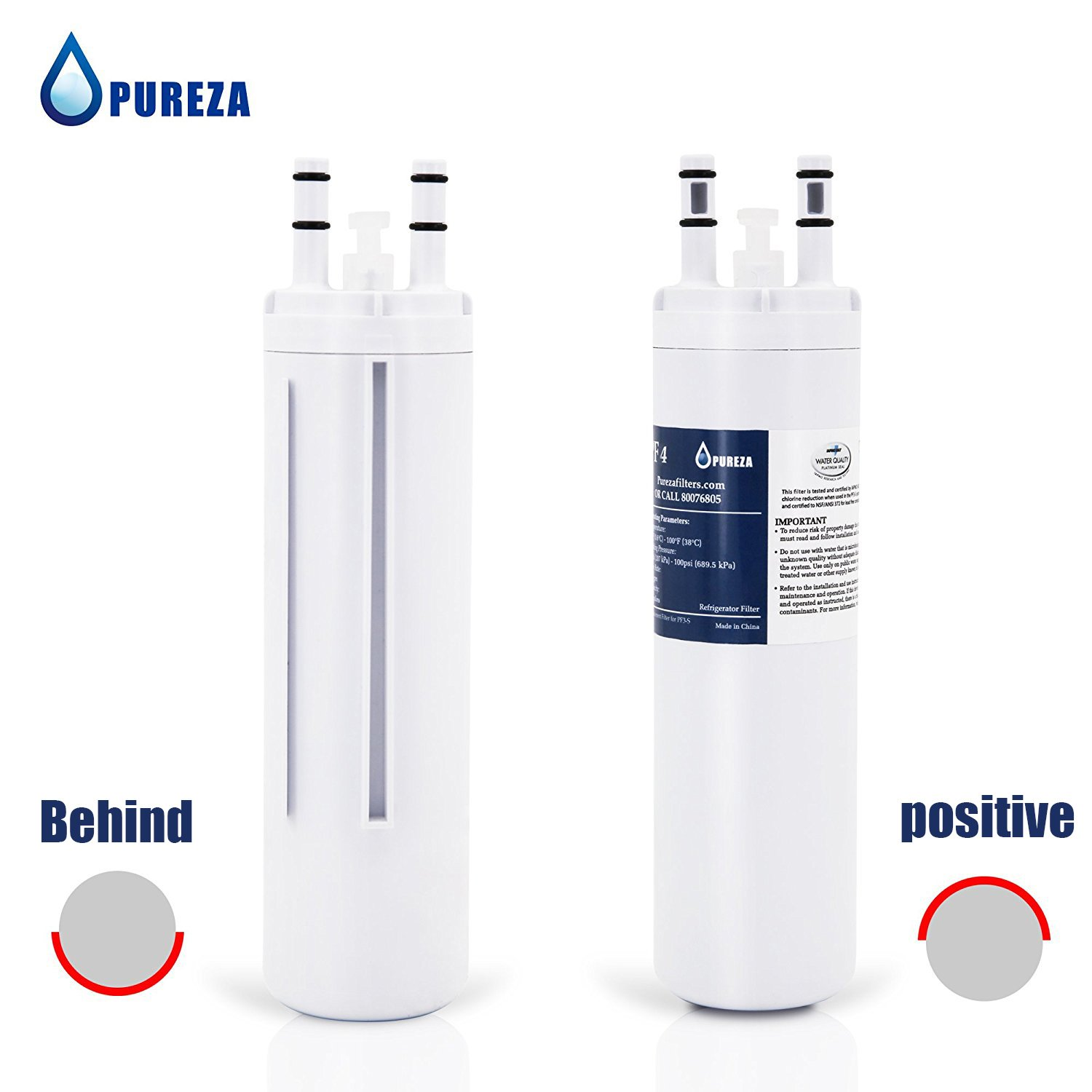 Pureza WF3CB Water Filter - Compatible with WF3CB, Pure Source 3 Refrigerator Water Filter, Pack of 3 by Pureza filters (Image #4)