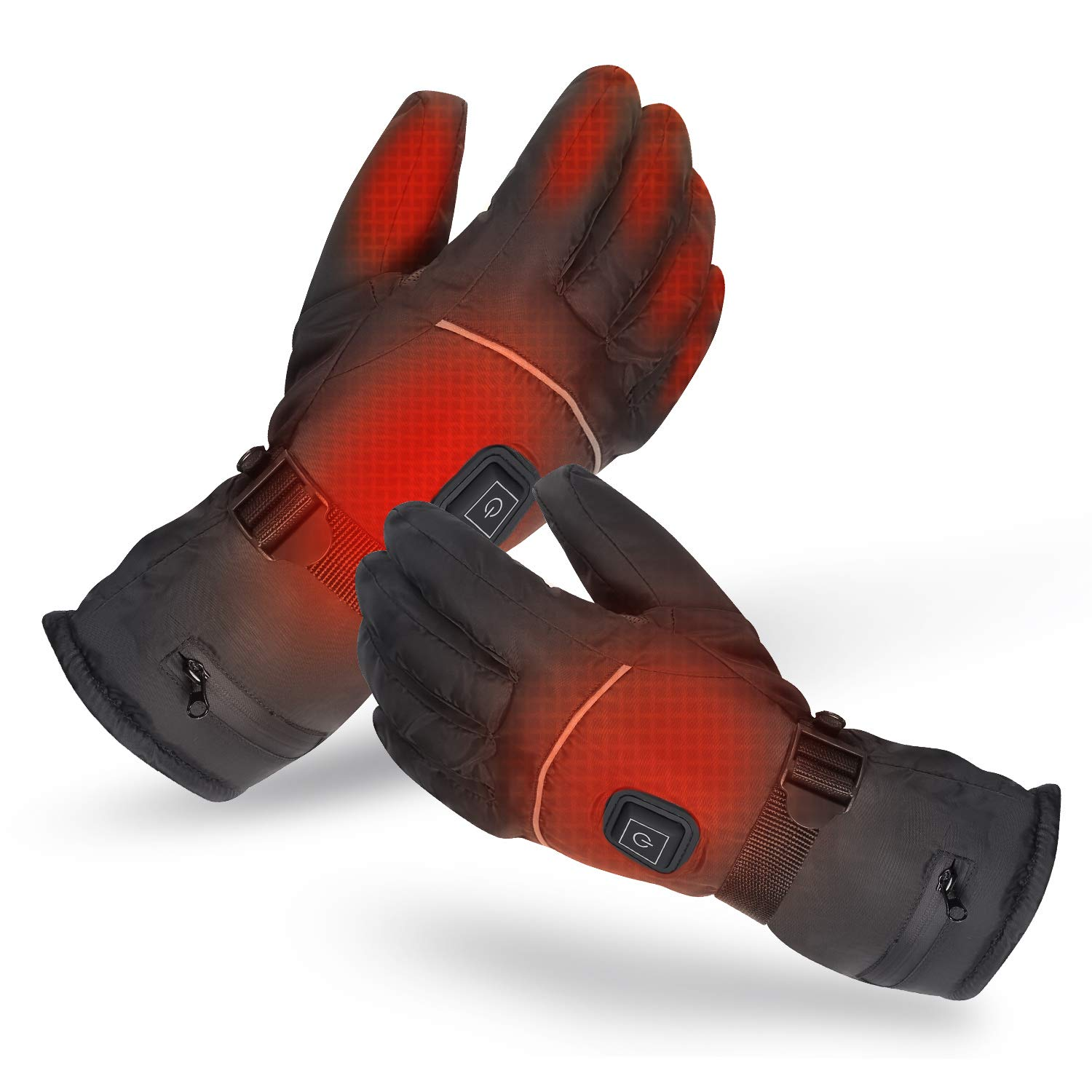 KZY Heated Gloves, Winter Heating Gloves for Men and Women, Rechargeable Battery Warm Gloves for Cycling Motorcycle Hiking Skiing by KZY
