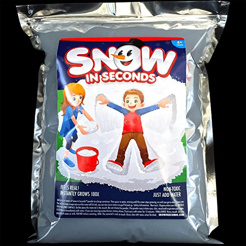 Snow in seconds instant fake jumbo bag makes