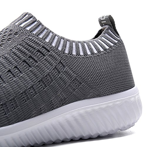 TIOSEBON Women's Athletic Shoes Casual Mesh Walking Sneakers - Breathable Running Shoes 7.5 US Deep Gray
