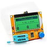 LCR-T4 Mega328トランジスタテスタデジタルテスター 128 * 64 LCD抵抗容量ダイオードSCRトランジスタESRメータMOS/PNP/NPNマルチメーター