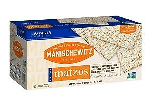 Manischewitz Kosher For Passover Matzos 5 lb box (5 pack of 1 lb inside)