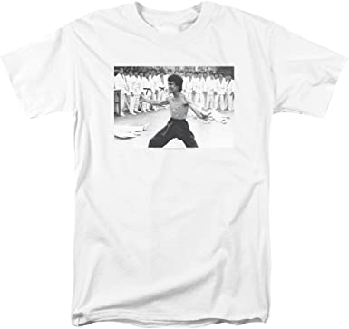 Bruce Lee triunfante Mens Camisa Manga Corta (Blanco, XXXXX ...