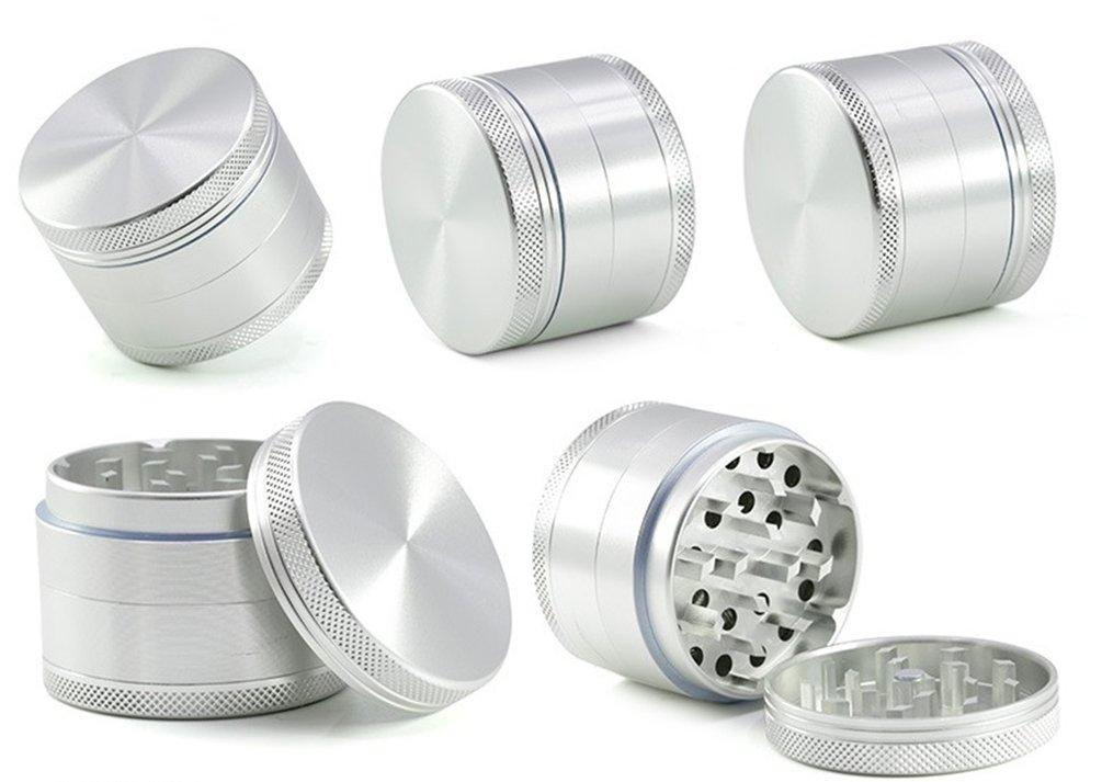 Scraper TANKASE 2 Aluminum CNC Grinder Especias Trituradora Moleta 4 Piezas para Hierbas y Especias con Polen Catcher