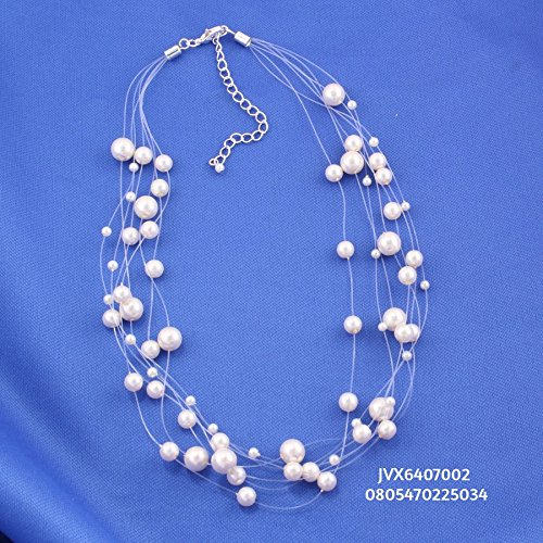 Necklace Illusion Pearl (TAZZA CREAM PEARLS LAYERED/ILLUSION NECKLACE #UN240286N94)
