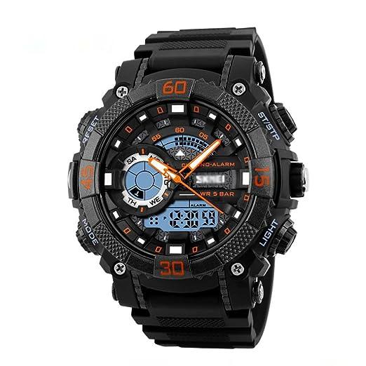 Peros reloj digital, Aire libre Deportes 50m resistente al agua Relojes analógicos, Digital led Pero Adolescentes Chicos Watch-B: Amazon.es: Relojes