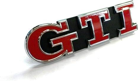Volkswagen Original Golf 7 Gti Schriftzug Chrom Emblem Rot Kühlergrill Auto