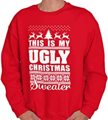 9287009a9 Brisco Brands My Ugly Christmas Sweater Funny Holiday Crewneck Sweatshirt