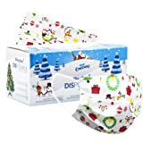 Christmas Face Mask Disposable Face Mask for Adult Women Men Christmas Disposable Face Masks Cute Printed Christmas…