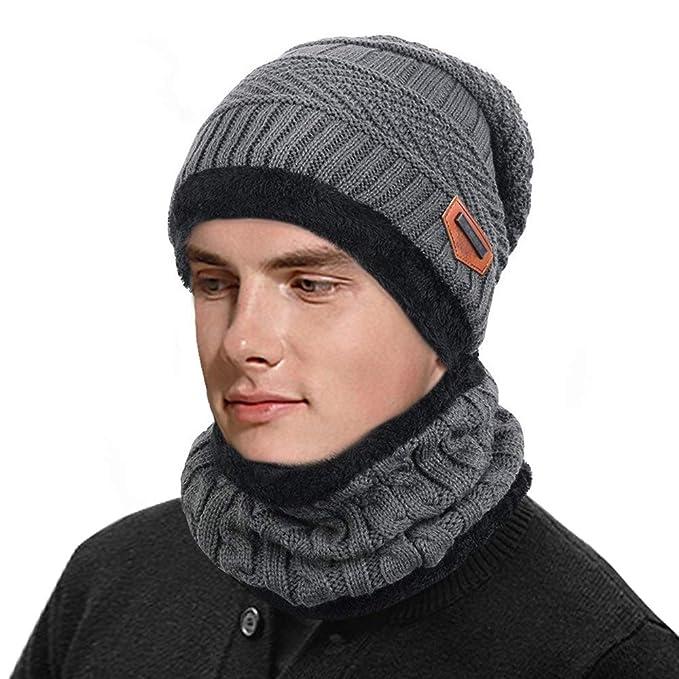 l'atteggiamento migliore ee210 62d6b HZQDLN Inverno Uomo Donna Sciarpa e cappello Nuovo fodera in ...