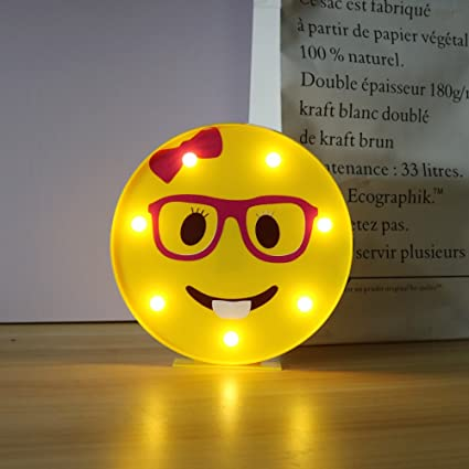 amazon com delicore marquee emoji sign funny led table lamps night