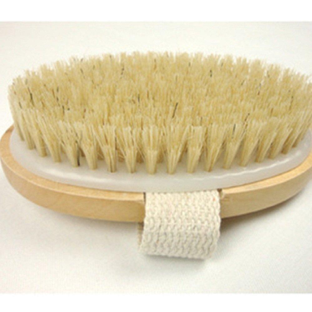Nopea Duschhandschuh Naturborsten Badebürste Premium Körperbürste Rückenbürste Massagebürste Dusch Mit langem Handgriff Für Hautreinigung