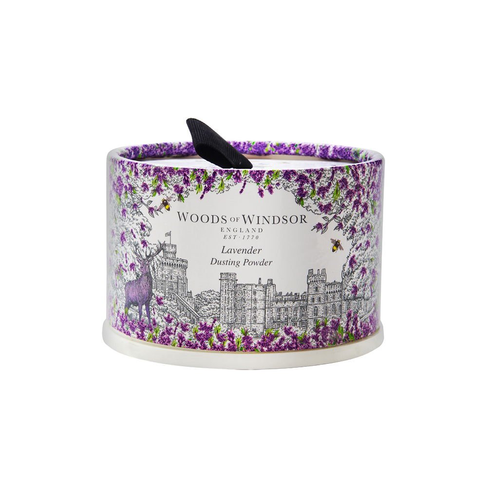 Woods Of Windsor Lavender Body Dusting Powder With Puff for Women, 3.5 Ounce by Woods of Windsor