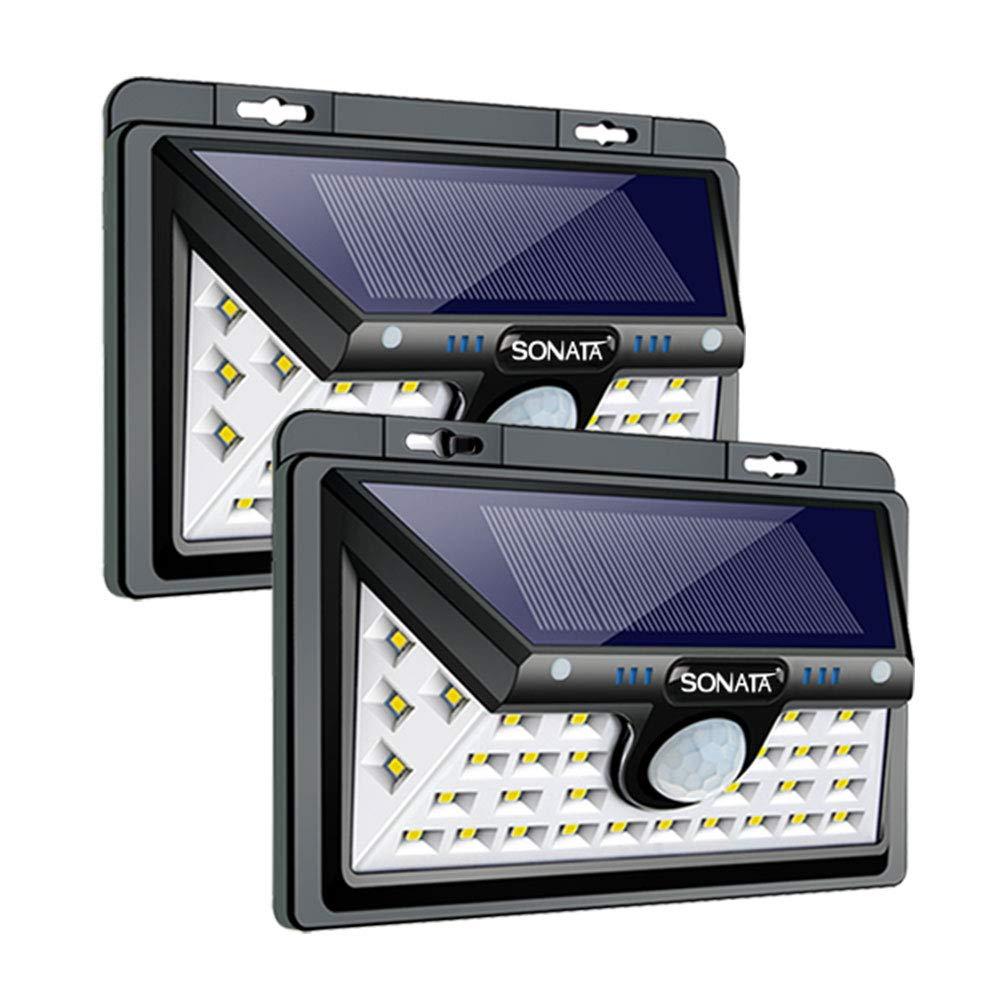 Solar Lights Outdoor, SONATA Solar Motion Sensor Light Outdoor, Upgraded 3 Optional Modes Security Motion Sensor Lights, IP65 Waterproof, 270 Degree Wide Angle LED Solar Light for Front Door, Driveway by SONATA