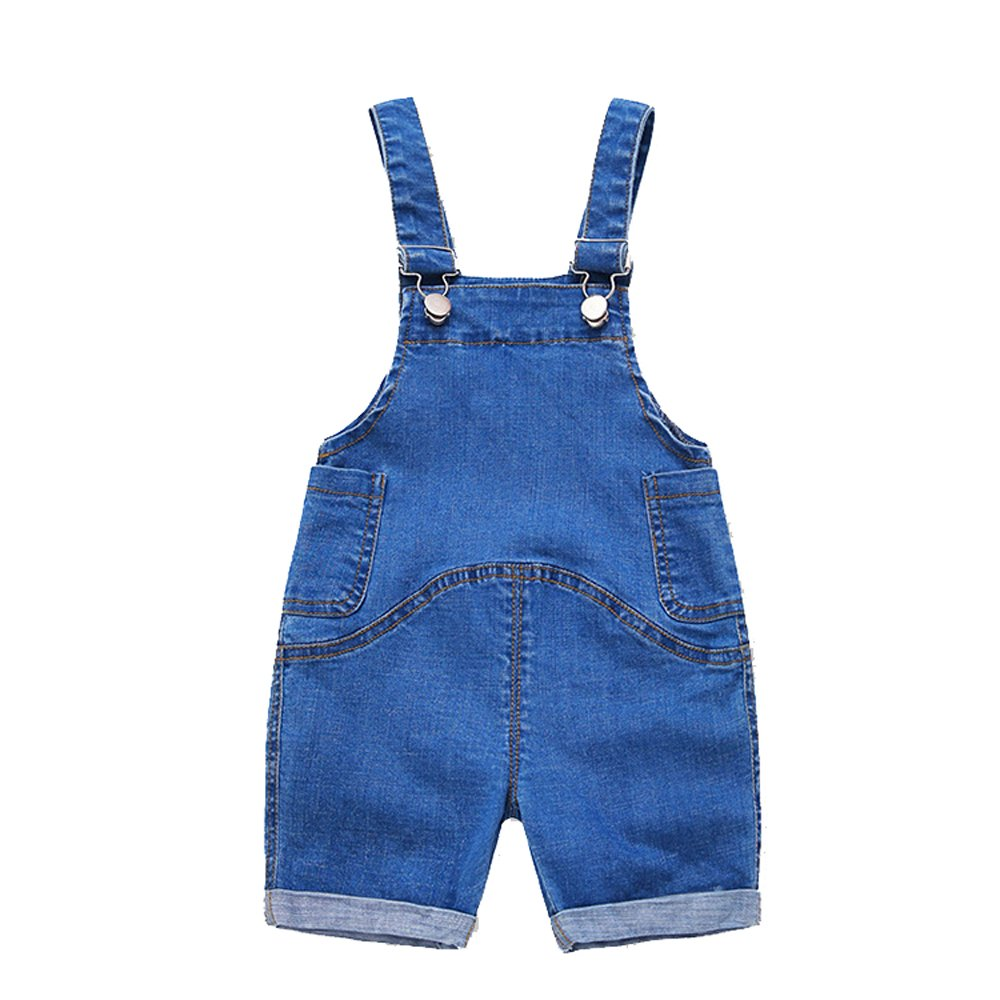 Ding Dong Baby Toddler Kid Boy Girl Denim Shortall(Style 3,4T)
