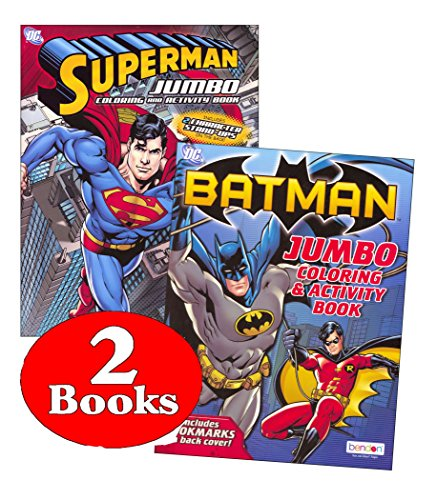 DC Comics® Batman & Superman Coloring And Activity Book Set (Two 96 -page Books)]()