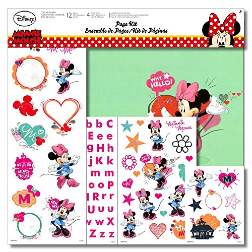 (Disney Paper Sheets, Mickey and Friends, 12 by 12-inch, 12-Pack (Minnie Mouse))
